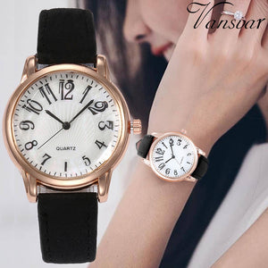 Beautiful Fashion Simple Watch Ladies Leather Belt Watch For Gift 2019