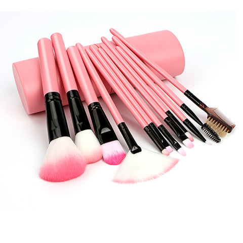 Classy Pink Makeup Brush Set and Travel Case