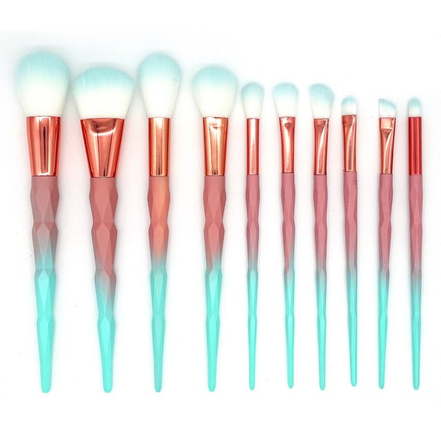 Unicorn Diamond Makeup Brush Set