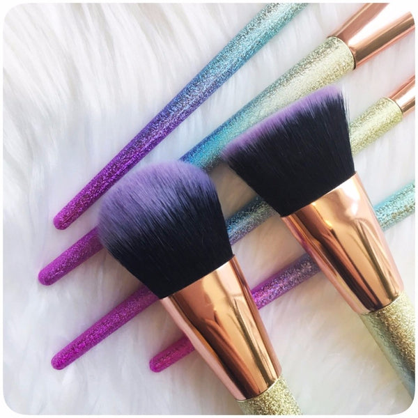 Colorful Ombre Makeup Brush Set