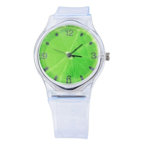 Round Band Gel Fashion Wrist Bangle Silica Watch Quartz Analog New Bracelet