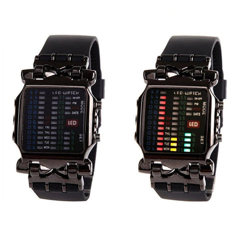 Casual Binary Read Women Dial 8inch Digital Date 0 To Sporting Square 11mm Wrist 4inch 1 Men LED Women 45mm Watch Easy