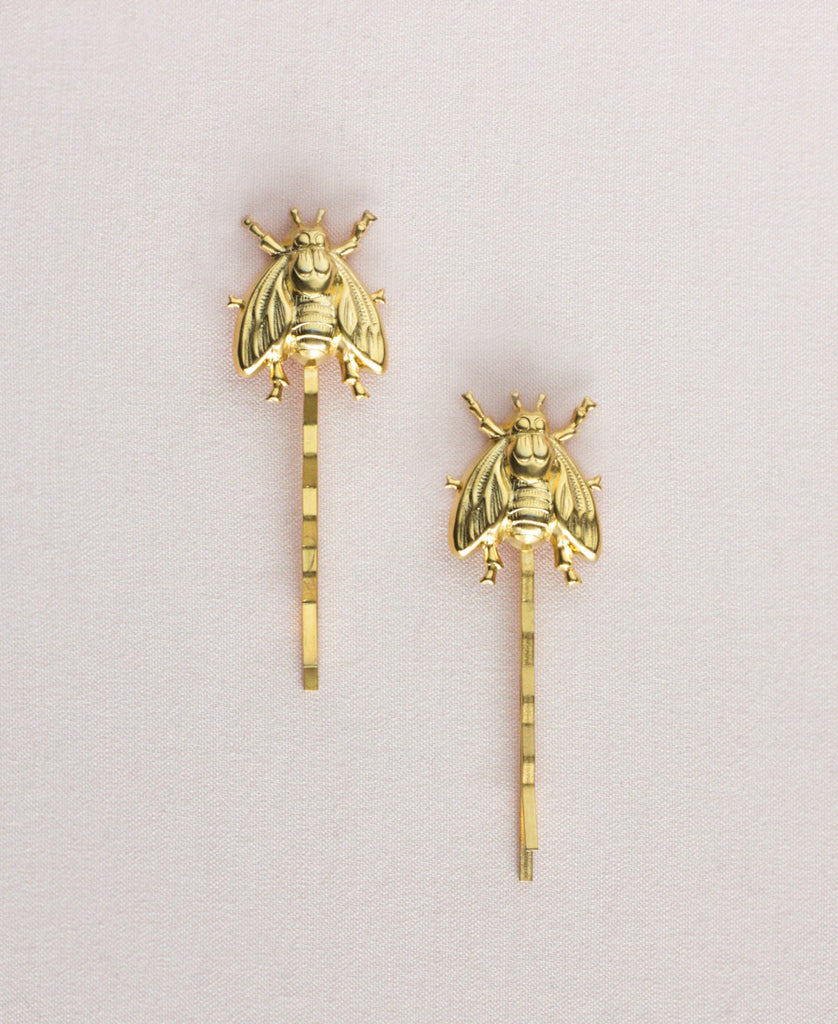 Pair of Bees Bobby Pins