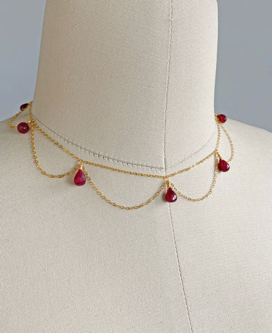 Daphne Necklace (Ruby)