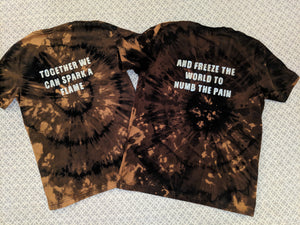 "Slander Couples ""Superhuman"" Shirts- Bleached"