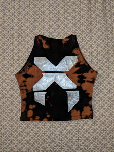 Excision- Bleached Crop Top