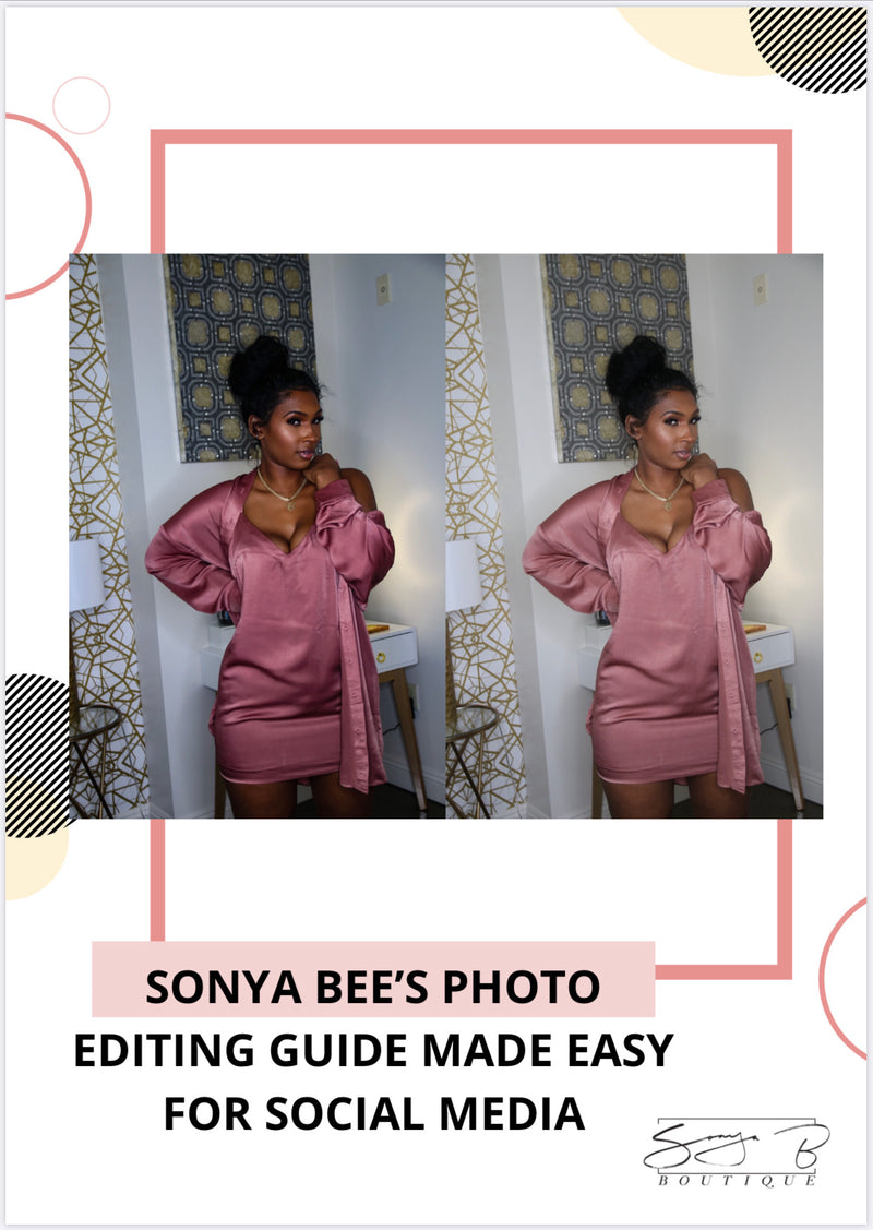 Sonya Bee's Photo Editing Guide