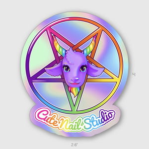 Load image into Gallery viewer, sigil of baby baphomet sticker