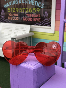 rimless heart sunglasses