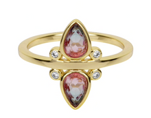 Load image into Gallery viewer, gemstone tear drop ring