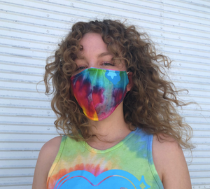 tie dyed cropped sweatshirt and mask set!