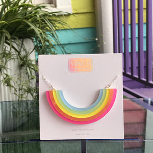 """Over It"" Rainbow Necklace"
