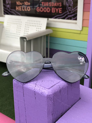 Load image into Gallery viewer, rimless heart sunglasses