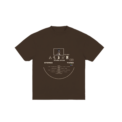 Vinyl Record Brown Tee