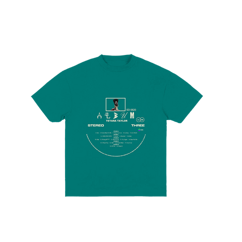 Vinyl Record Turquoise Tee + Digital Album