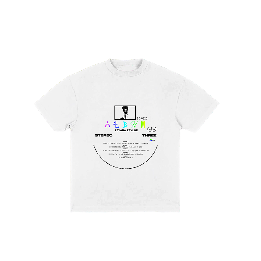 Vinyl Record White Tee + Digital Album