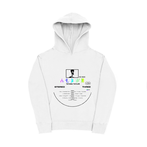 Vinyl Record White Hoodie + Digital Album