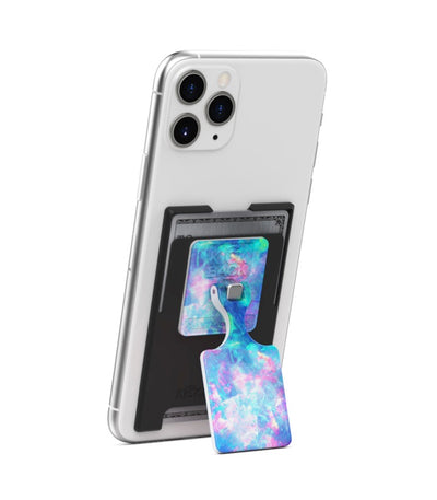 KickBack Phone Stand Wallet (Black + Opal)
