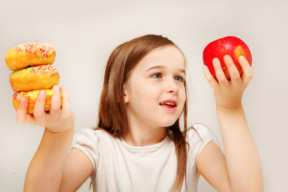 It's important for children to eat healthy so that they reach a healthy weight.