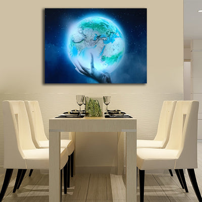 Earth In Hand Illuminated LED & Remote