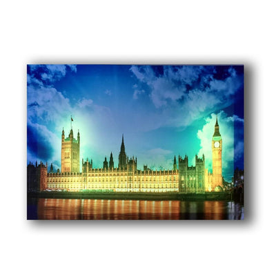 Big Ben Illuminated House Of Parliament LED & Remote