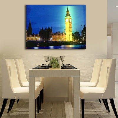 Big Ben Illuminated London At Night LED & Remote