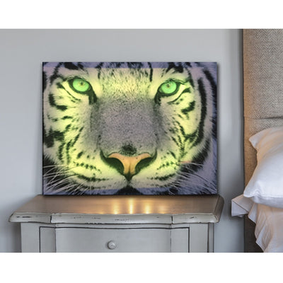 White Tiger  Illuminated Face LED & Remote