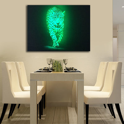 Black And White Illuminated Leopard LED & Remote