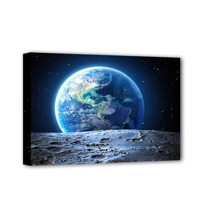 Blue Earth Illuminated View From Moon Surface LED & Remote