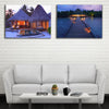 Seaside Resort With Cottage LED Light Up Edition Canvas