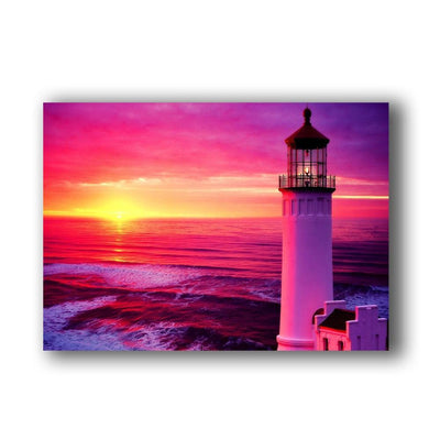Lighthouse At Sea LED Light Up Edition Canvas