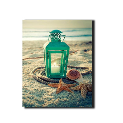 Lantern Shells Ocean LED Light Up Edition Canvas