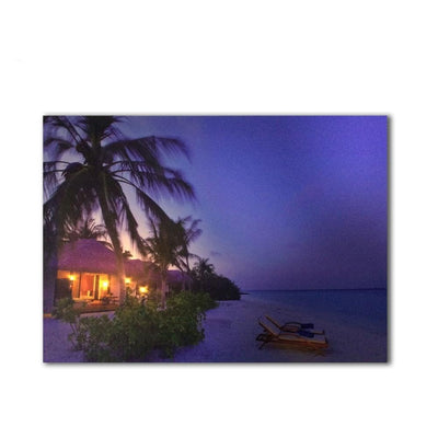 Maldives Tropical Resort LED Light Up Edition Canvas