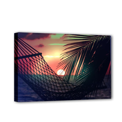 Holiday Vacation Sunset with Palm Trees LED & Remote