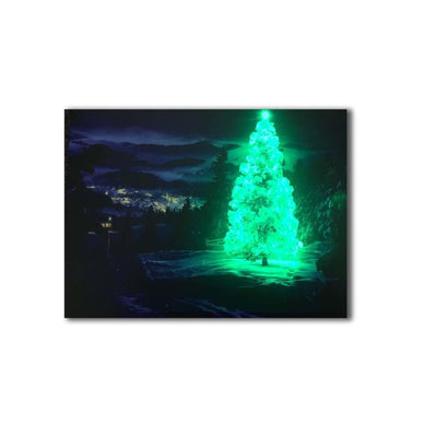 Christmas Illuminated Tree In Winter LED & Remote