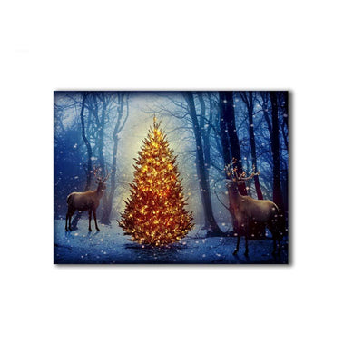 Christmas Illuminate Tree With Deers LED & Remote