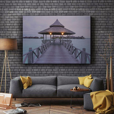 Tropical Resort Dock LED Light Up Edition Canvas