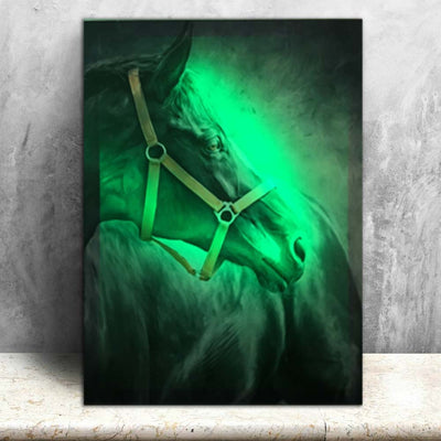 Horses Head Fine Art LED & Remote