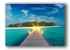 Maldives Holiday Resort LED Light Up Edition Canvas