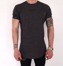 Load image into Gallery viewer, Curved hem T-shirt- dark heather