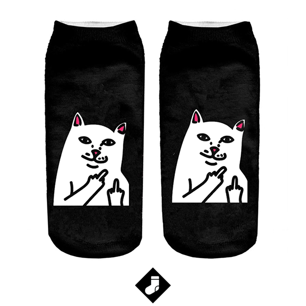 Chaussettes chat courtes cartoon