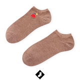 Chaussettes animaux courtes broderie