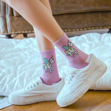 Chaussettes licorne kawaii cartoon hautes