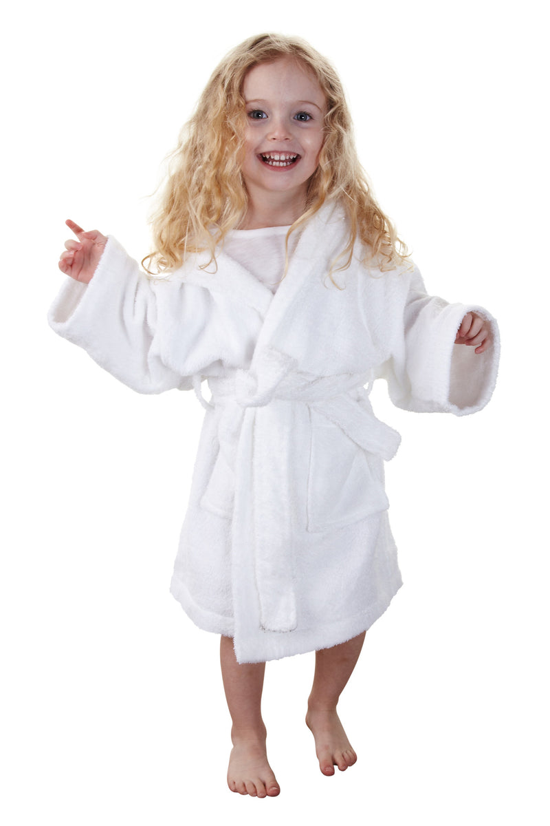 Kid's Hooded Terry Cloth Bathrobe