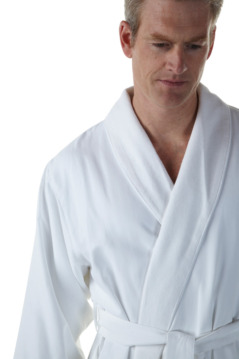 The Opulence Bathrobe - White Microfiber