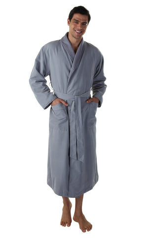 The Opulence Bathrobe - Grey Microfiber