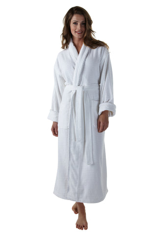 The Checker Bathrobe - Textured Velour