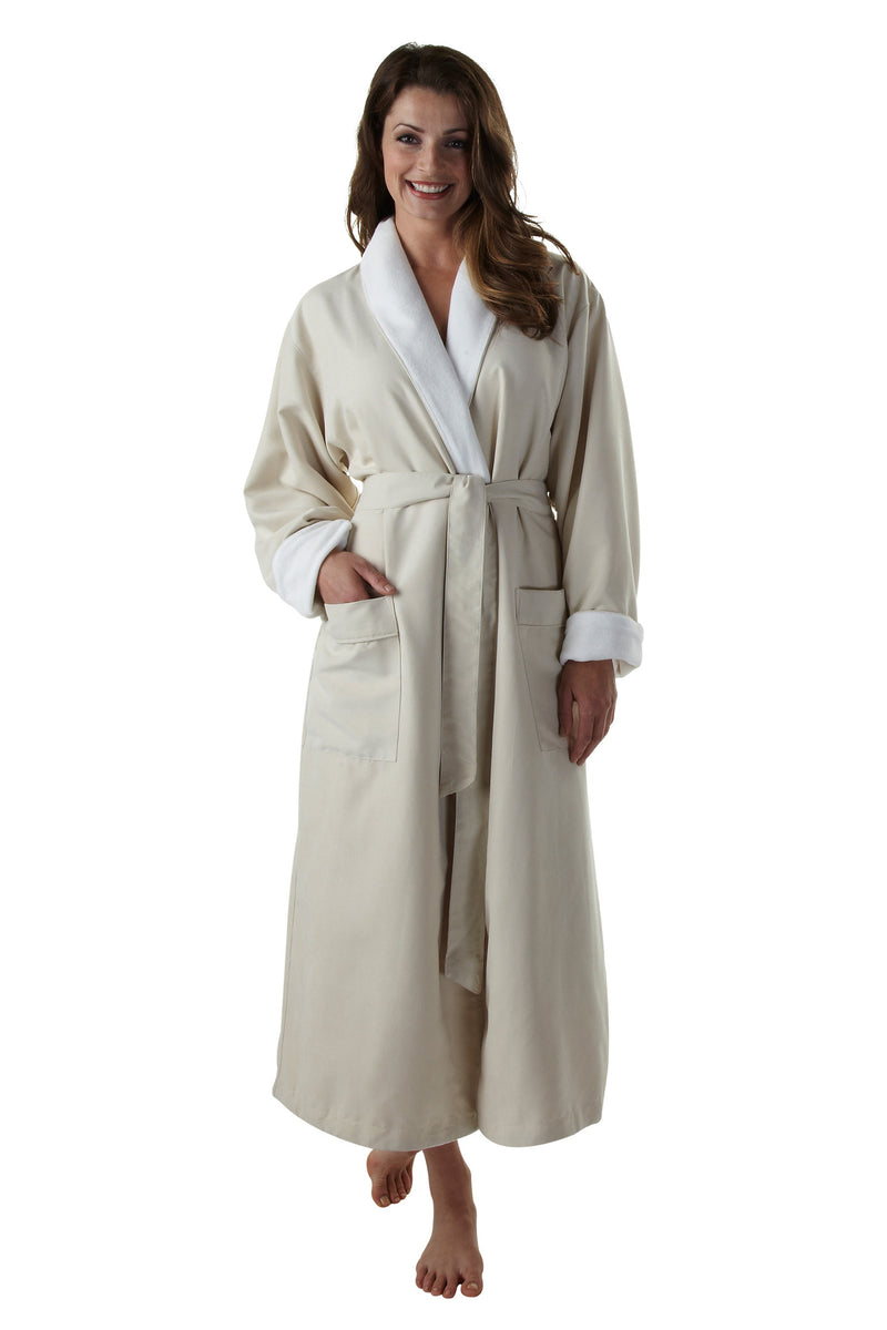 The Opulence Bathrobe - Tan Microfiber