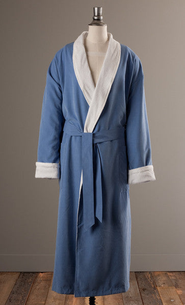The Opulence Bathrobe - Blue Microfiber
