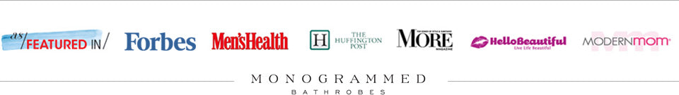 Monogrammed Bathrobes Featured In